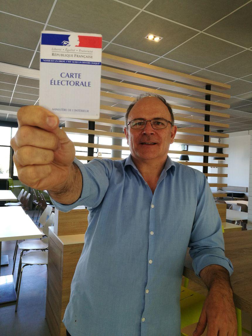 """Thierry Soreau directeur du Centre de Rencontres Internationales de Dijon est à l'origine de ce repas qui sera """"offert"""" à tous ceux qui seront allés voter!"""