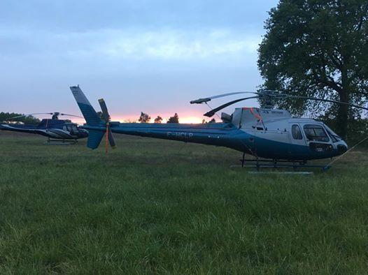 Des hélicoptères étaient positionnés à Montlouis, Vouvray, Azay le Rideau et Bourgueil