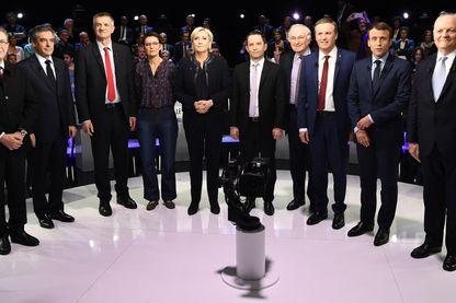Les 11 candidats à la présidentielle 2017 avant le débat télévisé