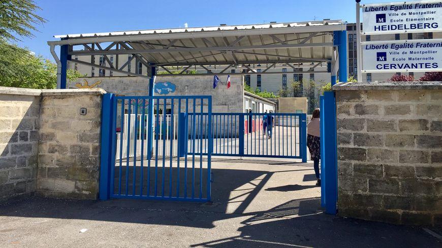 L'entrée de l'école élémentaire Heidelberg à Montpellier