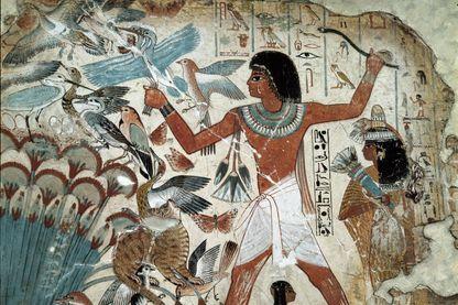 Antiquités égyptiennes. Scène dans la tombe de Nebanon, à Thèbes. c.1450 av. J.-C. British Museum, Londres, Royaume-Uni