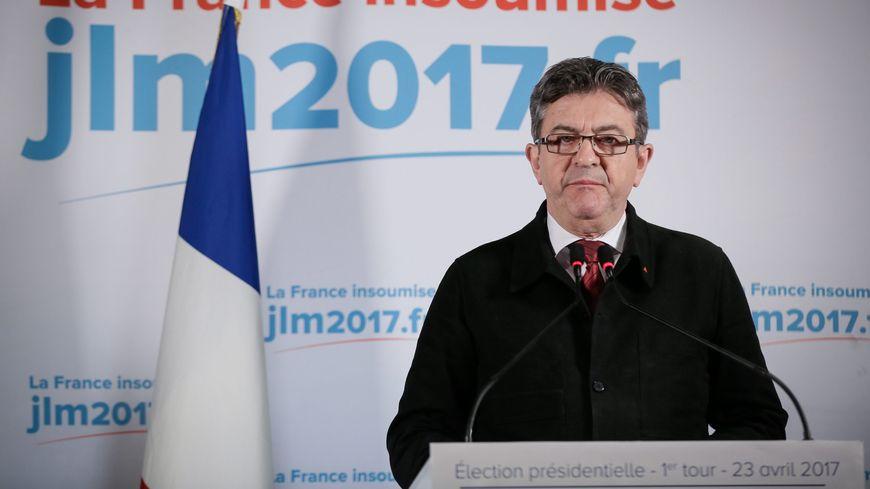 Jean-Luc Mélenchon, le soir du premier tour de l'élection présidentielle.