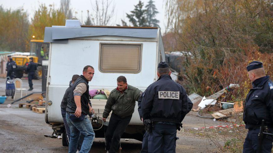 Evacuation d'un camp de Roms, photo d'archives.