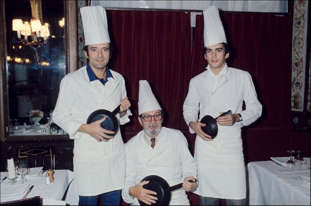 Michel, Raymond et Bruno Oliver en 1976