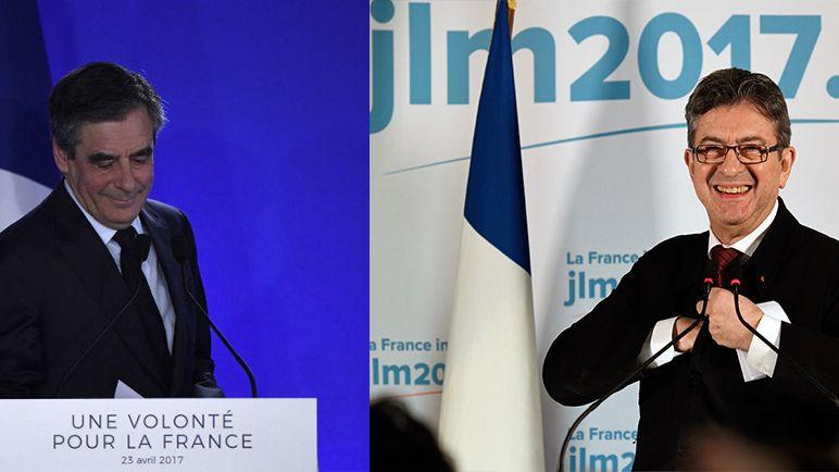 François Fillon et Jean-Luc Mélenchon s'imposent dans les quatre plus grandes ville d'Ile-de-France.