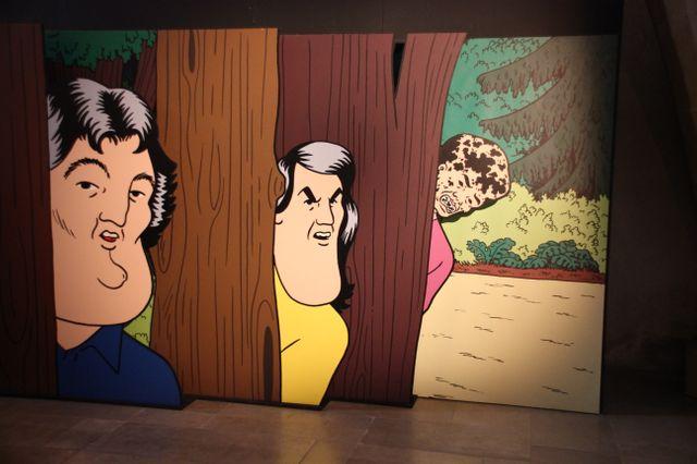 Dans l'exposition Pierre La Police au Musée des tapisseries à Aix-en-Provence