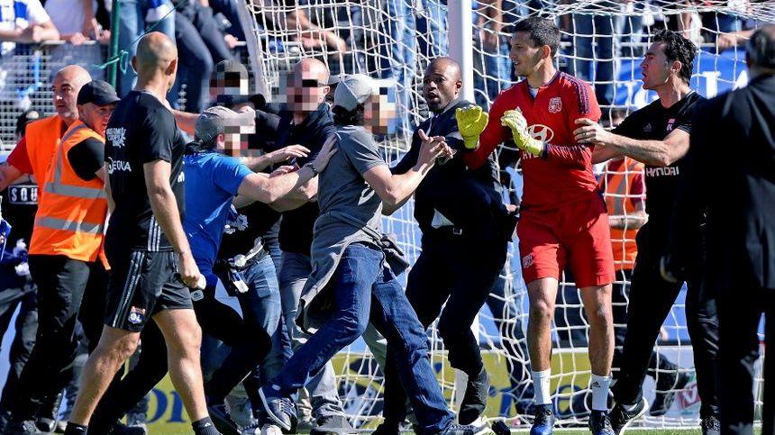 Incidents avant la rencontre SCB - Lyon au stade Armand Cesari de Furiani