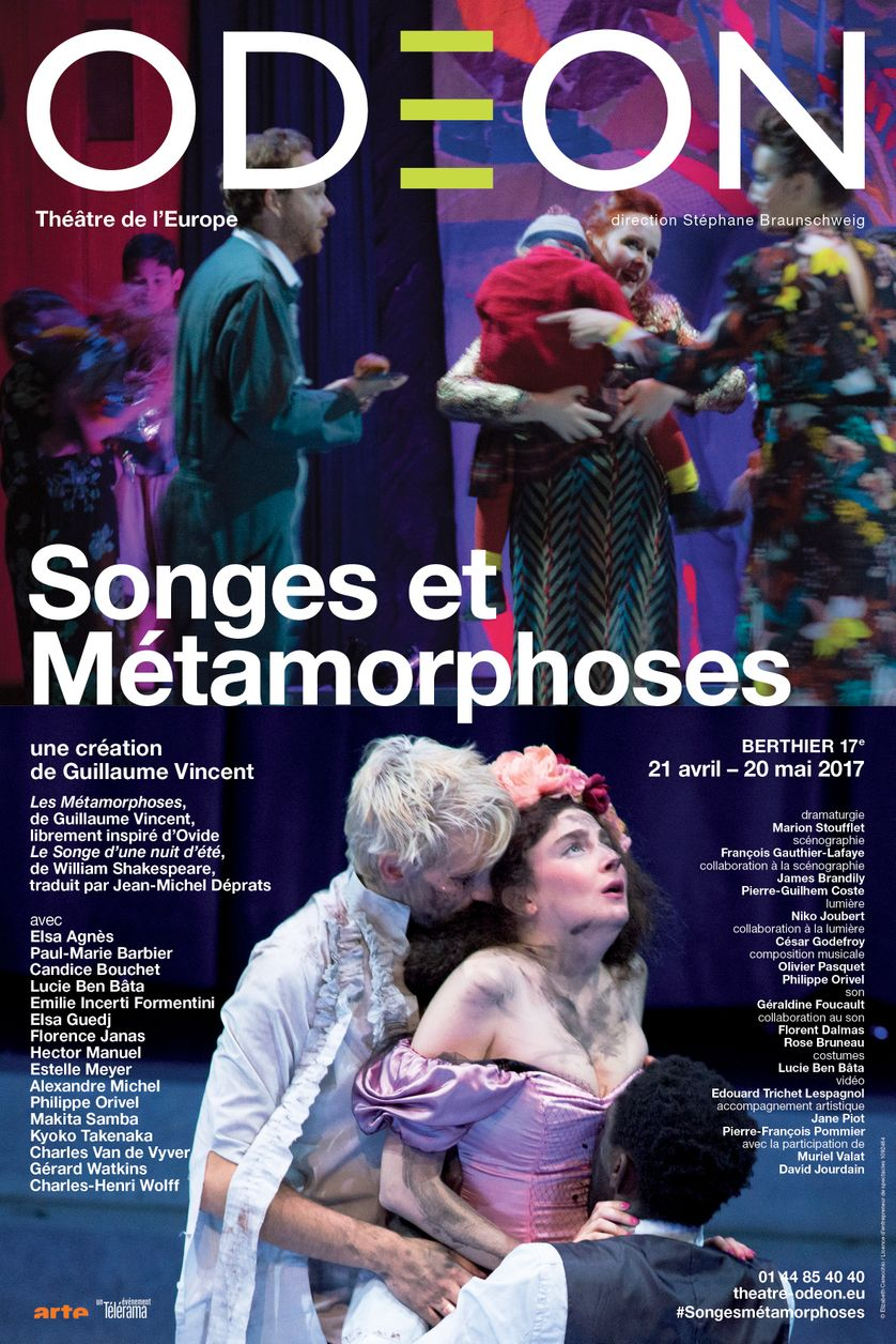 Affiche du spectacle Songes et métamorphoses à l'Odéon théâtre de l'Europe