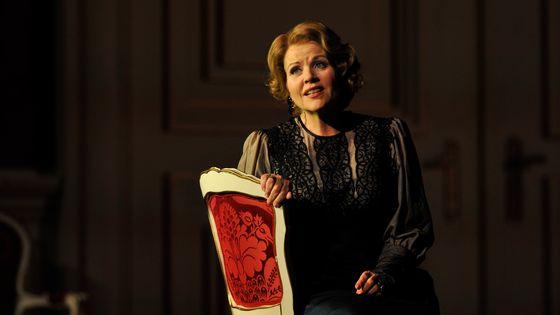 Renée Fleming dans le rôle de la Maréchale, de l'opéra Der Rosenkavalier, à Londres.