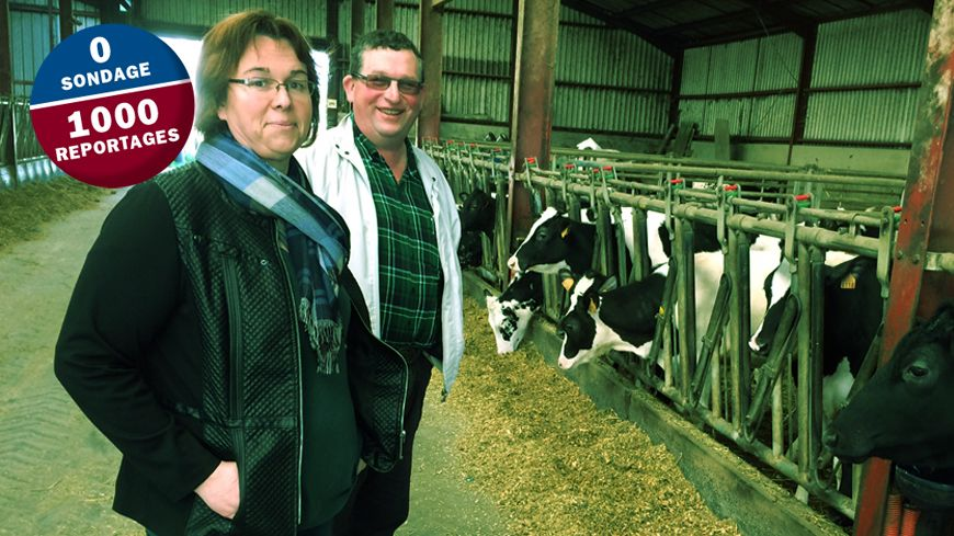 Isabelle et Géry, agriculteurs à St Amand et Nivelle.