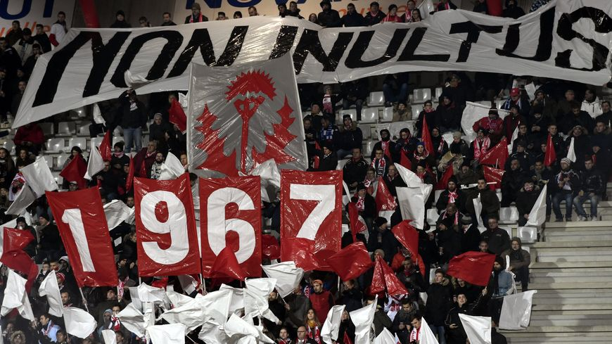Tifo des supporters de l'ASNL le 30 novembre 2016