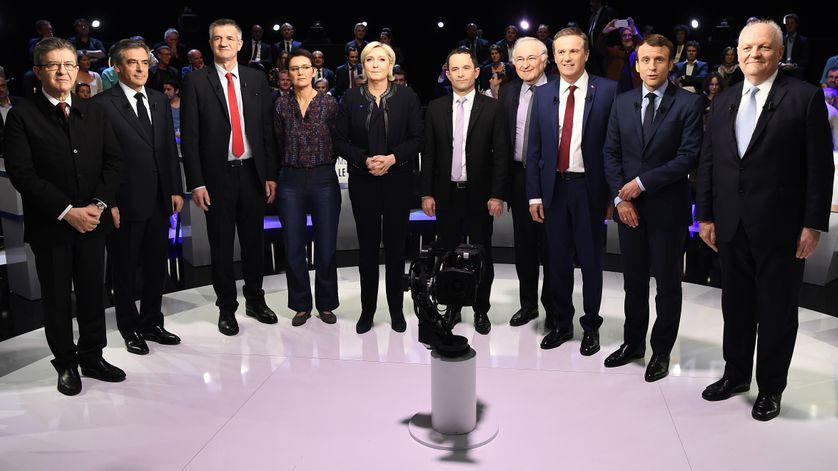 10 des 11 candidats à l'élection présidentielle, le 4 avril 2017