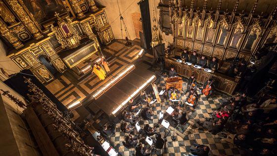 L'oratorio Il Terremoto donné dans l'église Sainte-Catherine de Cracovie durant le festival Misteria Paschalia.