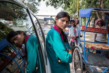 Les femmes  taxis de Bombay