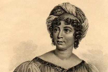 Madame de Stael (Anne-Louise-Germaine Necker), Baronne de Stael-Holstein peint par Gerard