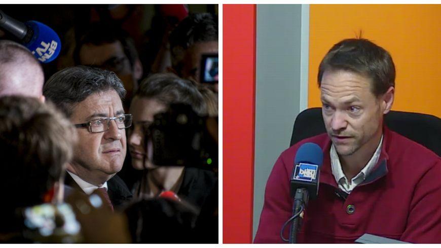 Jean-Luc Mélenchon après l'annonce des résultats / Loïc Morisot, militant sarthois de la France insoumise