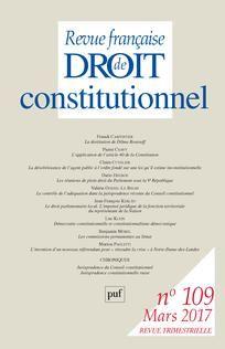 Revue française de droit constitutionnel n°109