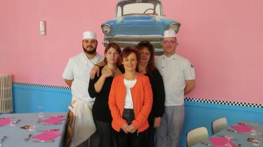 L'équipe de l'assiette vintage