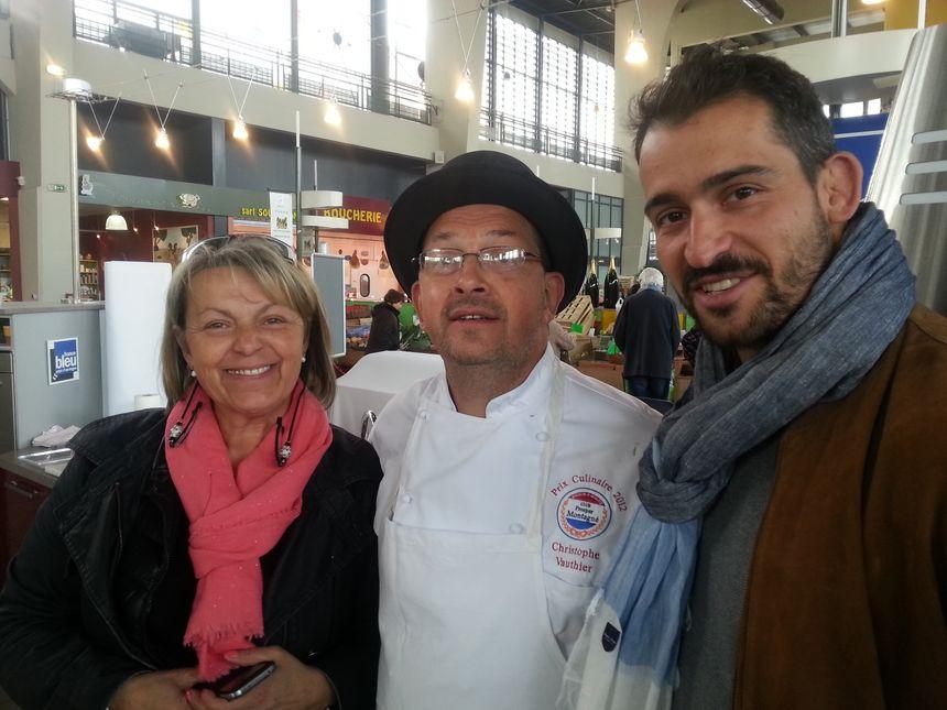 Geneviève, Christophe et Romain