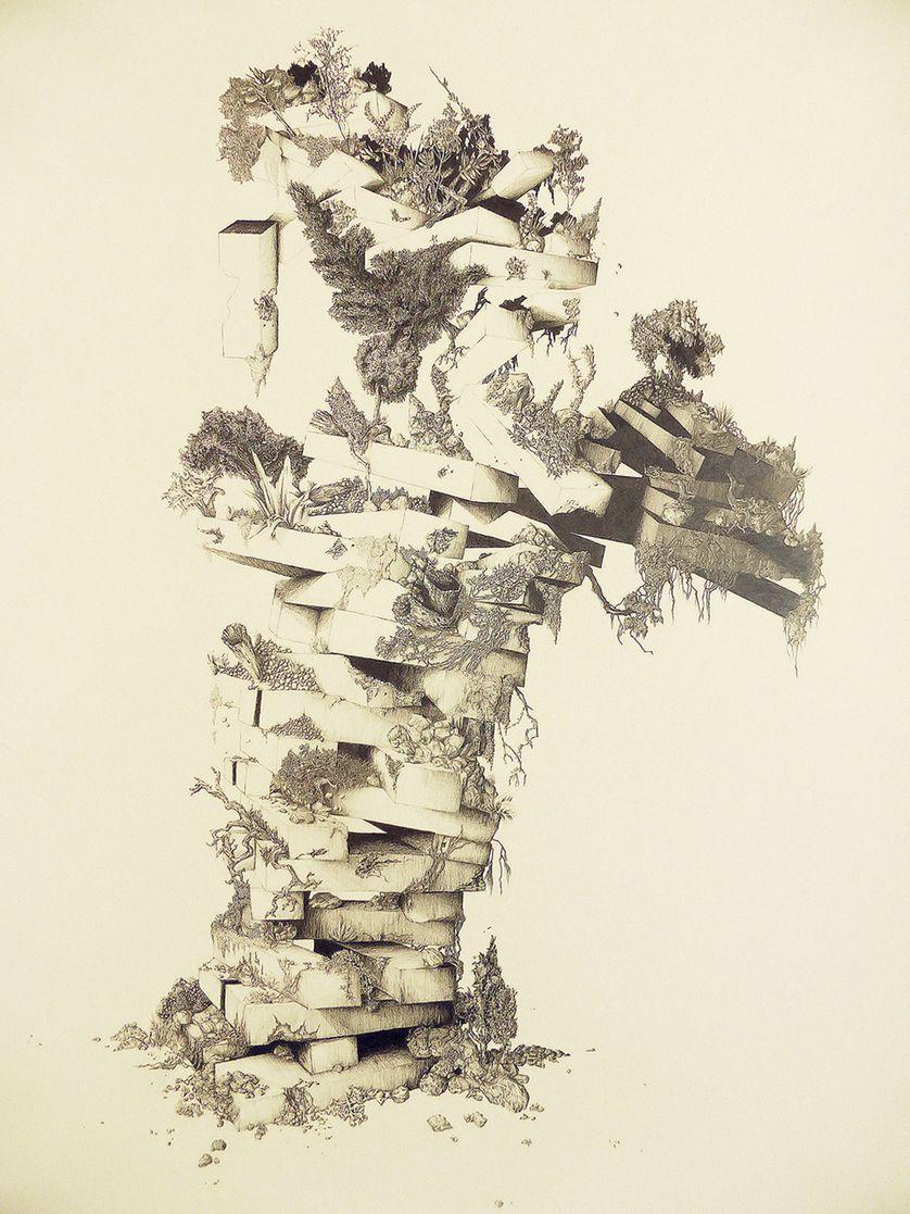 Marie Havel Jumanji 1, 2016 Graphite sur papier 101 x 140 cm