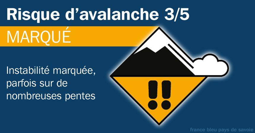 Le risque d'avalanche est de 3/5.