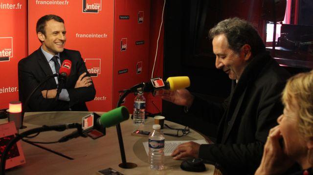 Emmanuel Macron et François Morel
