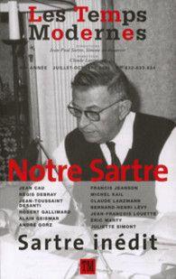 Couverture des Temps Modernes, Notre Sartre - éditions Gallimard