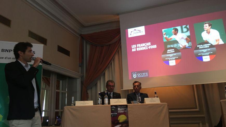 A gauche, Jean-Baptiste Perlant, directeur sportif du tournoi. Six Français seront présents cette année au BNP Paribas Primrose.