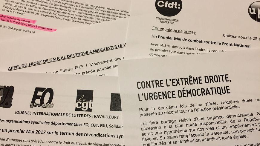 Premier mai très politique à Châteauroux, entre fête du travail et mobilisations anti-Le Pen et anti-Macron