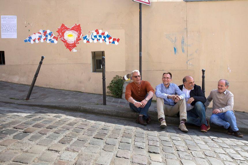 Daniel Jacquinot, Roland Demongeot, Erick Barukh et Dominique Lartigue