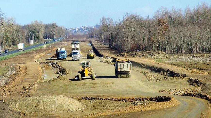 Le chantier de la déviation de Brion-près-Thouet a commencé en 2012 (Photo conseil départemental des Deux-Sèvres)