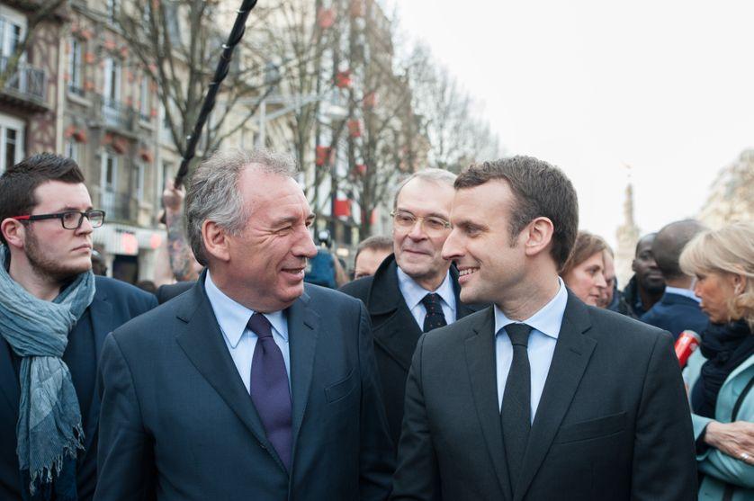 A Reims, François Bayrou après son ralliement à Emmanuel Macron