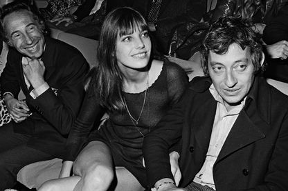 Jane Birkin et Serge Gainsbourg à la première du film Slogan de Pierre Grimblat