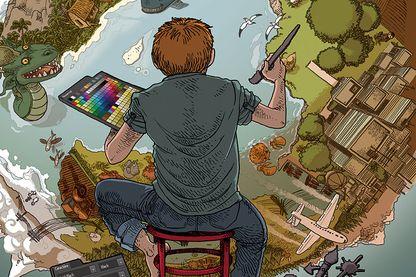 """Détail de la couverture """"Le Pixel quantique"""""""