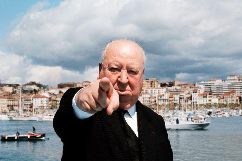 Sir Alfred Hitchcock en 1972 à Cannes