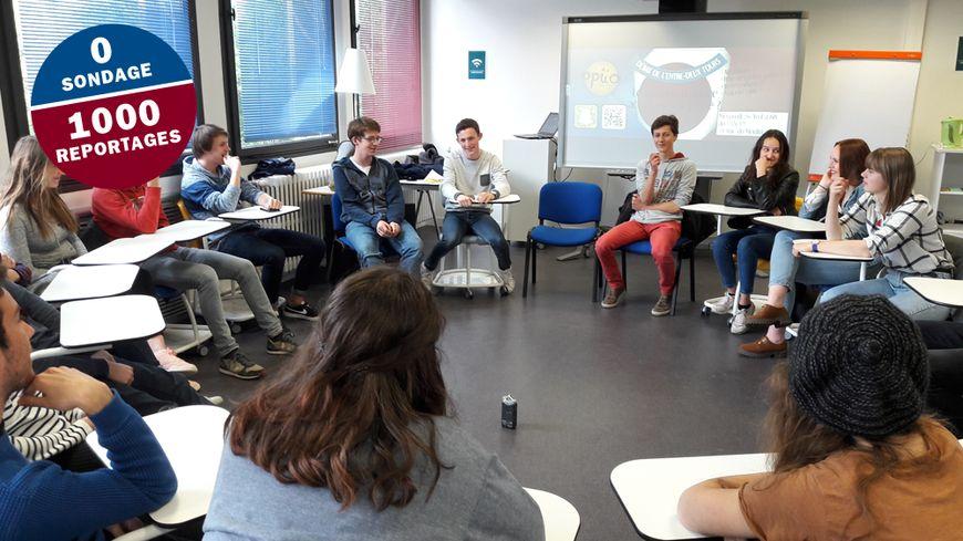 Une quinzaine de jeunes ont parlé politique au Canopé à Caen ce mardi