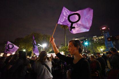 """Rassemblement pour une marche de """"Ni Una Menos"""" (pas une de moins) à Buenos Aires (Argentine) le 11 avril 2017, après le meurtre de la militante anti-femicide Micaela Garcia. Celle-ci a été retrouvée morte samedi dernier."""