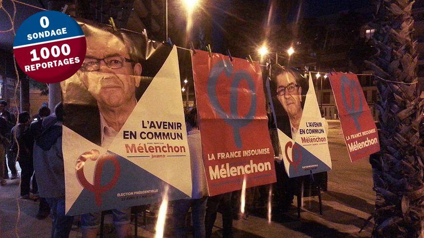Le candidat de la France Insoumise emporte 23% des voix dans l'Hérault au premier tour de la présidentielle.