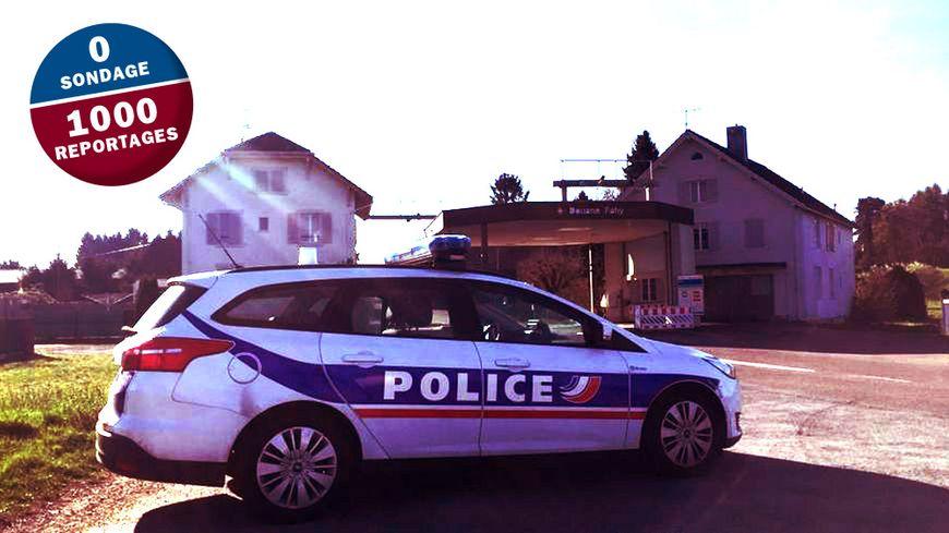 La seule fois où nous avons rencontré une patrouille de la PAF à la douane Fahy, c'est à quelques kilomètres de Montbéliard, il était 9h30.