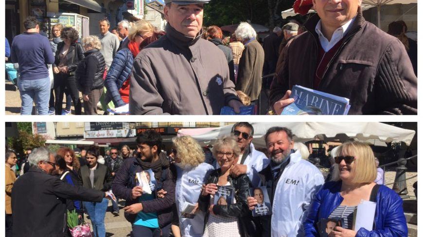 Les deux partis ont tracté sur le marché de Bergerac ce samedi