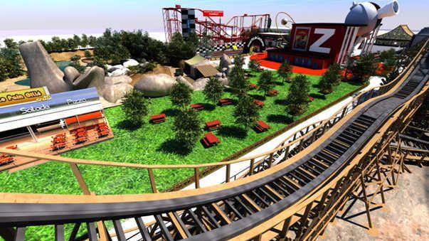 Parc Spirou : vue depuis le Wooden Coaster