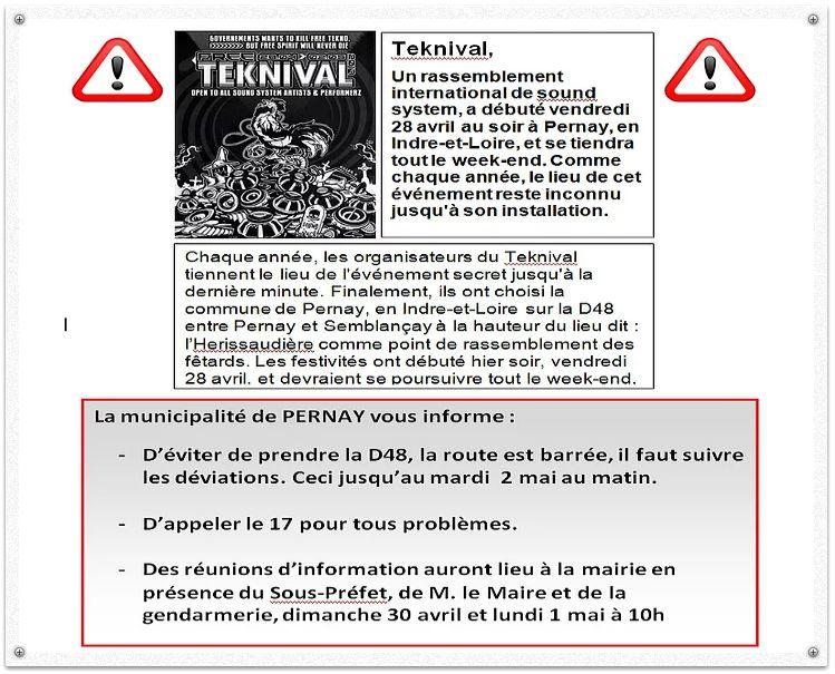 Recommandations de la mairie de Pernay.