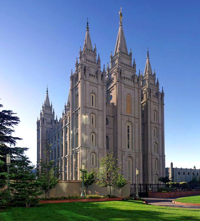 Le siège de l'église mormone à Salt Lake City (Utah)