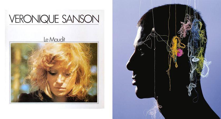Pochette vinyle des album Le Maudit de Véronique Sanson et Corps et Armes d'Etienne Daho