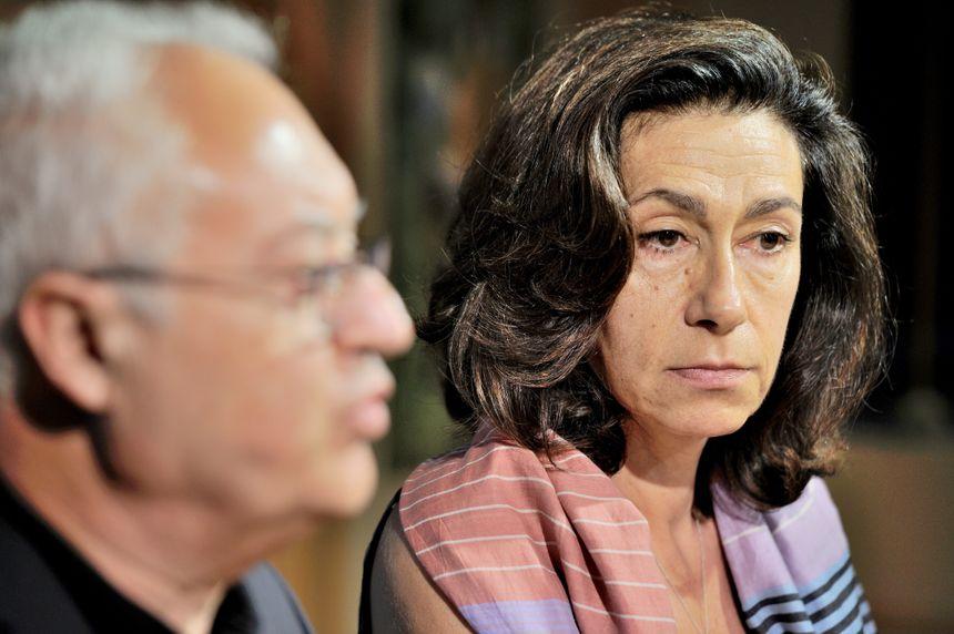 Corinne Limido et Guy Cotret lors d'un conseil d'administration de l'AJ Auxerre