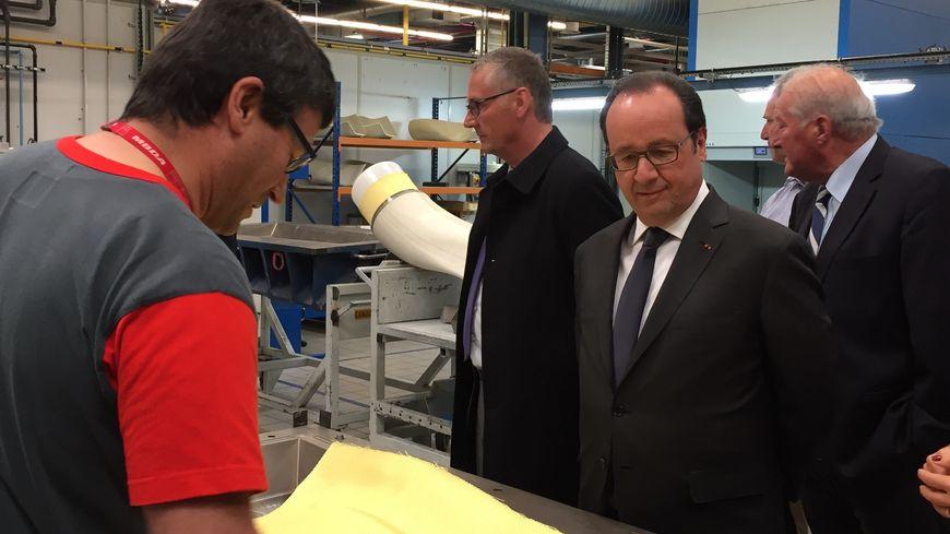François Hollande a visité l'entreprise MBDA à Bourges (Cher), le leader mondial du missile