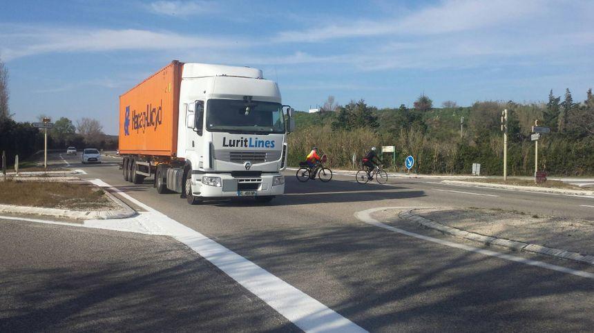 Ce croisement est jugé très dangereux par la Fédération Française des motards en colère du Gard