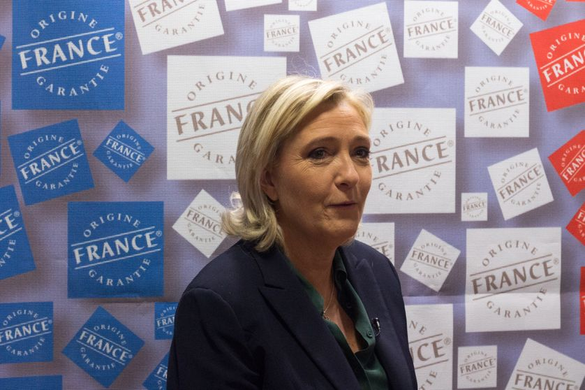 Marine Le Pen au Salon du Made in France en novembre 2016