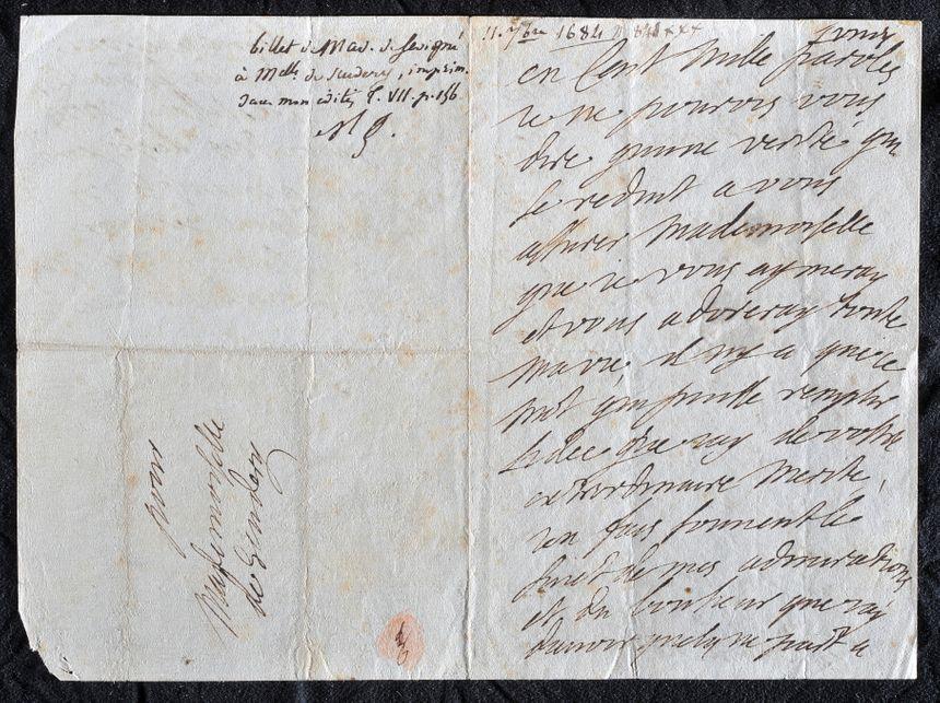 Des lettres originales de la marquise exposées au château de Grignan.