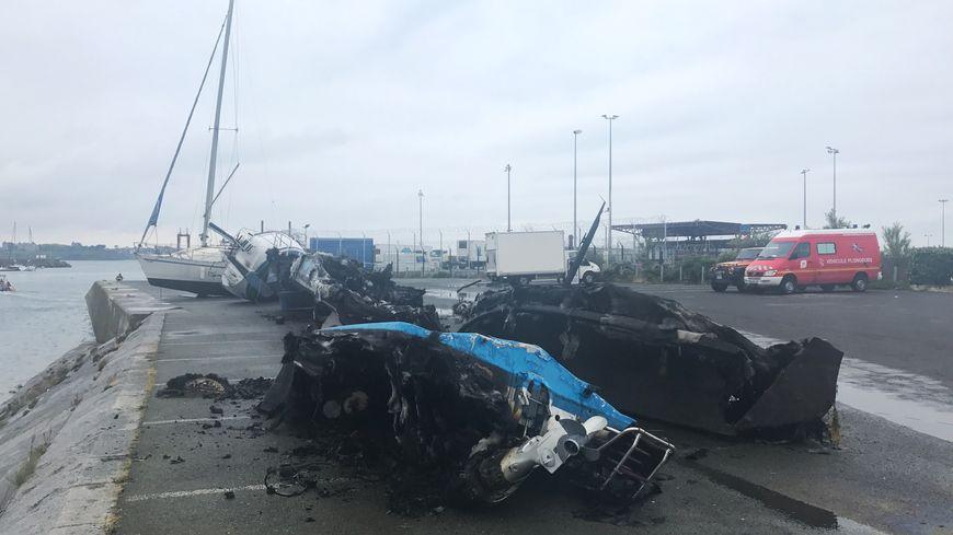 Plusieurs bateaux ont complètement brûlé à Saint-Malo